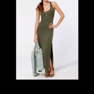 Olive Green Micheal Kors dress with belt.